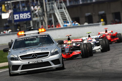 Cars behind the safety car