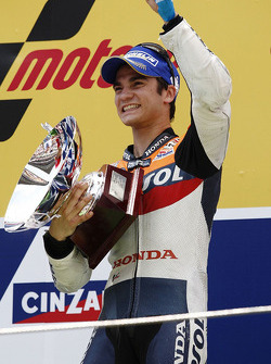 Podium: race winner Dani Pedrosa