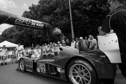 #12 Charouz Racing System Lola Judd enters scrutineering