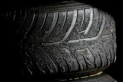 Worn Bridgestone tyre