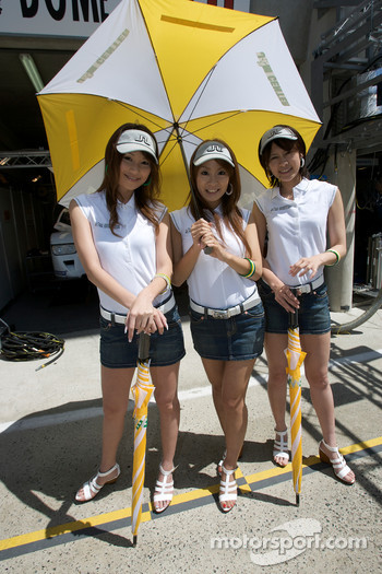 The charming Dome Racing girls