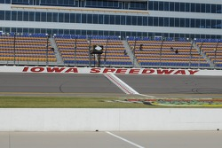 The front stretch at Iowa Speedway