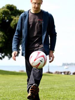 Sébastien Bourdais, Scuderia Toro Rosso playing football