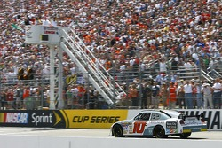 Start: Patrick Carpentier takes the green