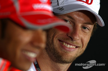 FIA press conference: Lewis Hamilton, McLaren Mercedes, Jenson Button, Honda Racing F1 Team