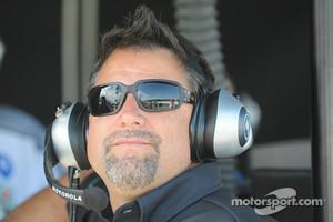 A far happier Michael Andretti, IndyCar team owner