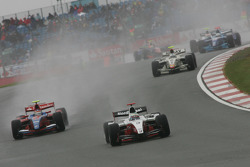 Luca Filippi leads Bruno Senna