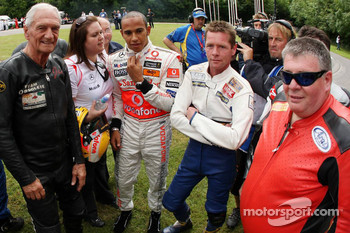 Lewis Hamilton, McLaren Mercedes with some motorbike riders