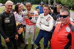 Lewis Hamilton, McLaren Mercedes with some motorbike riders