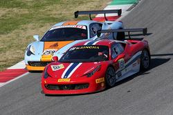 #131 AF Corse Ferrari 458: Kriton Lendoudis fighting for position with #259 Ferrari of Fort Lauderdale Ferrari 458: John Farano