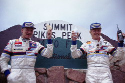 Winner Ari Vatanen, Peugeot 405 Turbo 16 and second place Juha Kankkunen, Peugeot 405 Turbo 16