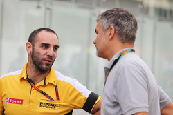 (L to R): Cyril Abiteboul, Renault Sport F1 Managing Director with Dieter Gass, Audi Sport Head of DTM