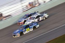 Dale Earnhardt Jr., Hendrick Motorsports Chevrolet and Brad Keselowski, Team Penske Ford