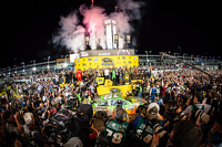 NASCAR Sprint Cup Photos - Victory lane: race winner and 2015 NASCAR Sprint Cup series champion Kyle Busch, Joe Gibbs Racing Toyota celebrates