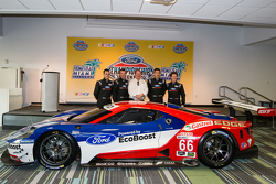 Chip Ganassi Racing Ford GTLM drivers for IMSA and Le Mans: Dirk Müller, Joey Hand, Richard Westbrook and Ryan Briscoe with Chip Ganassi
