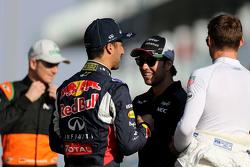 Sergio Perez, Sahara Force India, Daniel Ricciardo, Red Bull Racing