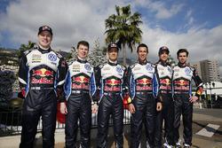 Jari-Matti Latvala, Miikka Anttila, Sébastien Ogier, Julien Ingrassia, Andreas Mikkelsen, Anders Jäger, Volkswagen Motorsport