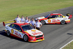Tim Cindric, Ryan Story, Max Lane (Shell Lubricants Marketing Manager), Liza Shaw, Shell Viva Energy Events Manager, Fabian Coulthard and Scott Pye
