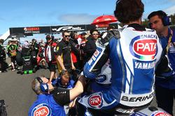 Sylvain Guintoli, Pata Yamaha on the starting grid