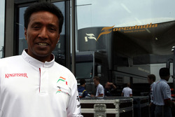 Balbir Singh now working for the Force India F1 Team