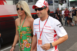 Timo Glock, Toyota F1 Team with his girlfriend