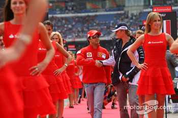 Felipe Massa, Scuderia Ferrari and Nico Rosberg, WilliamsF1 Team