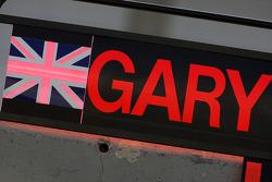 Pitboard for Gary Paffett, Test Driver, McLaren Mercedes