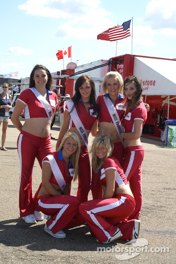 The charming Miss Edmonton Indy contestants