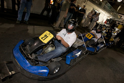 Drivers and media go-kart event: Scott Wimmer