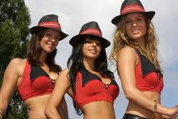 Budweiser girls on stage