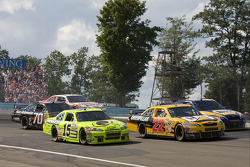 Paul Menard, Dave Blaney and Michael Waltrip