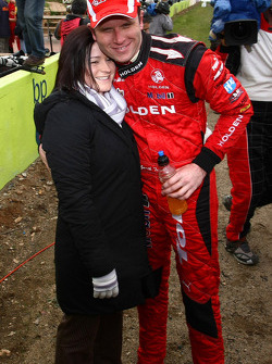 Garth Tander with wife Leanne Tander
