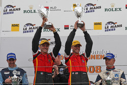 LMGT2 podium: class winners Robert Bell and Gianmaria Bruni