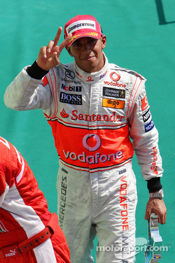 Podium: Lewis Hamilton