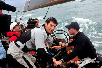 Red Bull Racing and Scuderia Toro Rosso, sailing trip, Mark Webber, Red Bull Racing and Sébastien Bourdais, Scuderia Toro Rosso