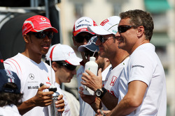 Lewis Hamilton, McLaren Mercedes, David Coulthard, Red Bull Racing