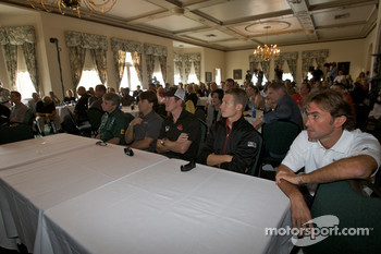 Detroit Grand Prix media lunch at the Detroit Yacht Club: Paul Drayson, Oriol Servia, Scott Dixon, Ryan Briscoe and Olivier Beretta