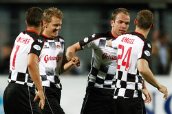 Charity Football Match, Nazionali Piloti vs All Stars Team: Sebastian Vettel, Scuderia Toro Rosso and Robert Doornbos