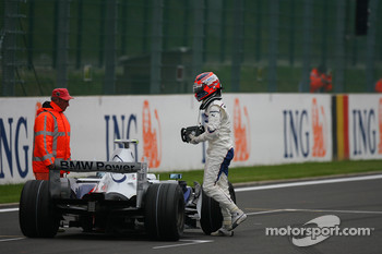 Robert Kubica,  BMW Sauber F1 Team stalled his car while trying a practice start