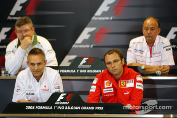 FIA press conference: Ross Brawn Team Principal, Honda Racing F1 Team, John Howett, Toyota Racing, President TMG, Martin Whitmarsh, McLaren, Chief Executive Officer and Stefano Domenicali, Scuderia Ferrari, Sporting Director