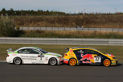 Augusto Farfus, BMW Team Germany, BMW 320si and Yvan Muller, SEAT Sport, SEAT Leon TDI