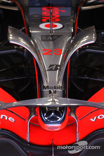 McLaren Mercedes front wing detail