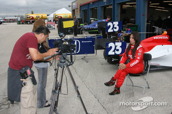 Milka Duno gives an interview to MTV