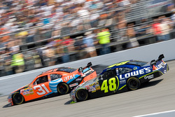 Jeff Burton and Jimmie Johnson