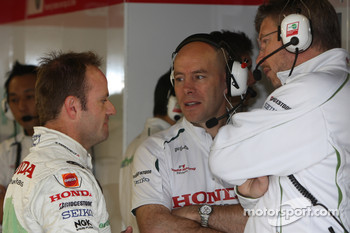 Rubens Barrichello, Honda Racing F1 Team with Jock Clear, Honda Racing F1 Team, Senior Race Engineer to Rubens Barrichello and Ross Brawn Team Principal, Honda Racing F1 Team