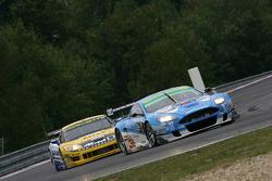 #36 Jetalliance Racing Aston Martin DB9: Lukas Lichtner-Hoyer, Alex Müller, #5 Phoenix Racing Corvette Z06: Marcel Fassler, Jean-Denis Deletraz