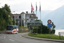 Sebastian Vettel's home town visit in Walchwil, Switzerland