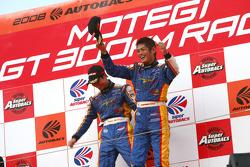 GT300 podium: class winners Manabu Orido and Tsubasa Abe
