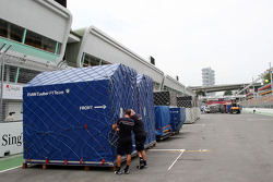 The travel crates of BMW Sauber F1 Team