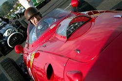 Tony Brooks and Ferrari Dino